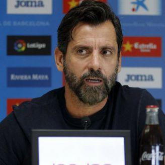 Quique Sánchez en conferencia de prensa