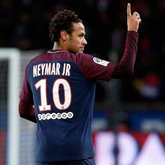 Neymar festeja un gol con el París Saint-Germain