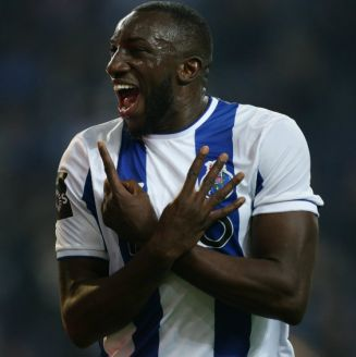 Moussa Marega festeja gol contra Tondela