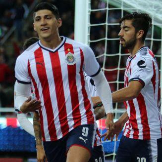 Pulido celebra su gol frente a Rayados