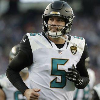 Blake Bortles, durante un juego con Jacksonville