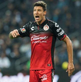 Damián Musto, durante el juego contra Rayados