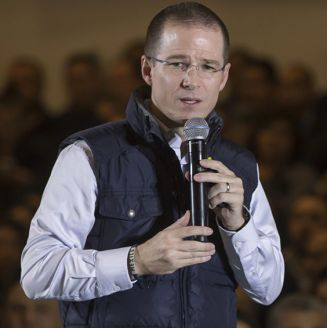Ricardo Anaya, durante un evento de campaña