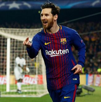 Messi celebra gol contra Chelsea