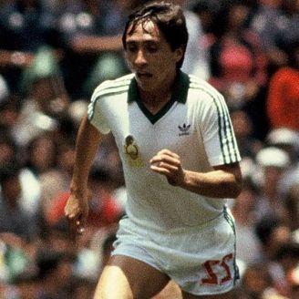 Manuel Negrete en el partido contra Bulgaria de México 1986
