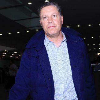 Peláez, a su llegada al AICM