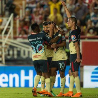América celebra empate contra Necaxa
