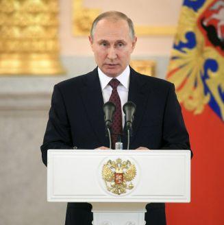 Vladimir Putin en un acto de gobierno