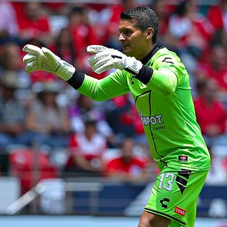 Melitón Hernández, durante el juego de Veracruz contra Toluca