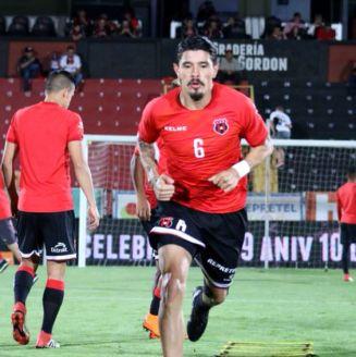 José Salvatierra, previo a un juego con el Alajuelense