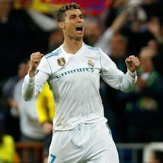 Cristiano Ronaldo, en festejo con el Real Madrid