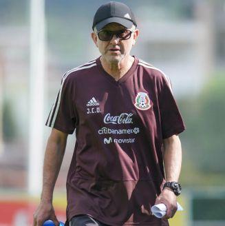 Osorio, durante un entrenamiento con el Tri