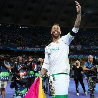 Sergio Ramos, en festejos del Real Madrid