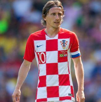 Luka Modric, durante un juego con Croacia