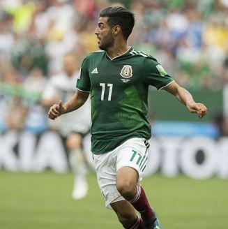 Carlos Vela, en juego de México contra Alemania