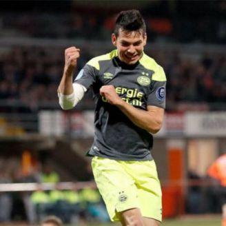 Lozano festeja un gol con los Granjeros