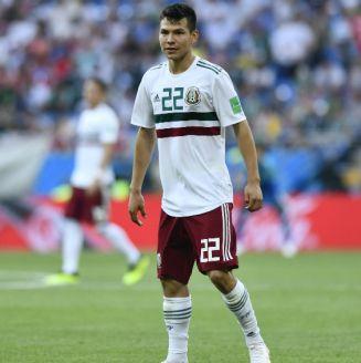 Chucky Lozano durante el partido contra Corea