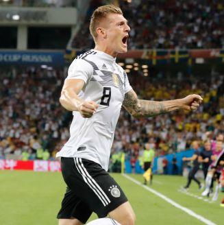 Kroos celebra el gol de la victoria de Alemania
