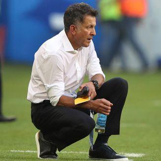 Juan Carlos Osorio, durante el juego del Tri contra Brasil