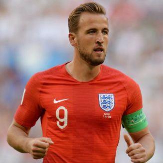 Harry Kane, en el juego entre Inglaterra y Suecia