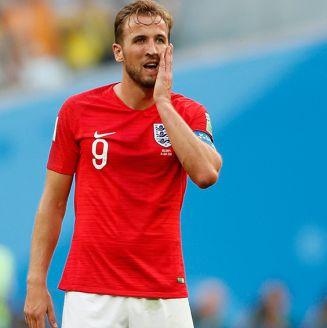 Harry Kane se lamenta en juego contra Bélgica