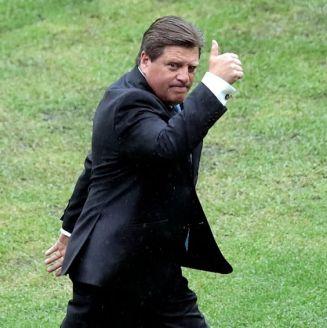 Miguel Herrera, durante el partido entre América y Veracruz