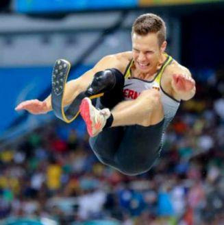 Markus Rehm, durante su participación en Rio 2016