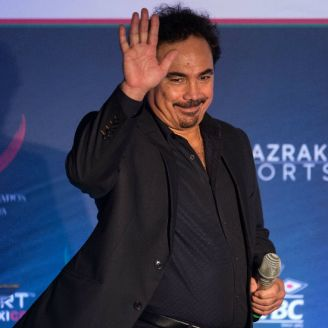 Hugo Sánchez durante el evento Beyond Sport México