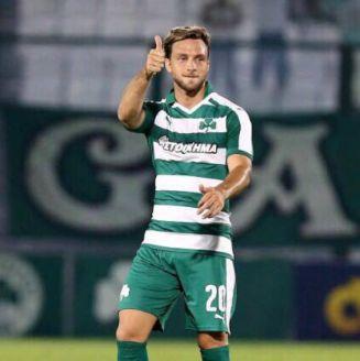 Lautaro Rinaldi durante su época en el Panathinaikos