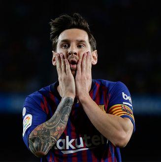 Messi tras la igualada contra Girona en Camp Nou