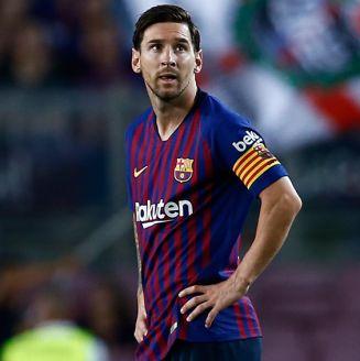 Messi se lamenta tras el empate del Barça frente al Girona
