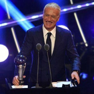 Didier Deschamps tras recibir su premio a mejor entrenador