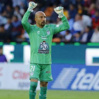 Conejo Pérez, en el partido Pachuca vs Tigres