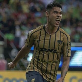 Mora convirtió el gol con el que Pumas venció a Chivas en el Estadio Akron
