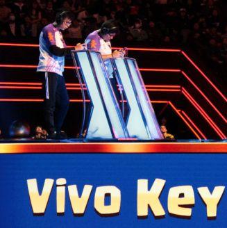 Gabo y Kiki, durante el 2v2 de la Gran Final contra Nova Esports
