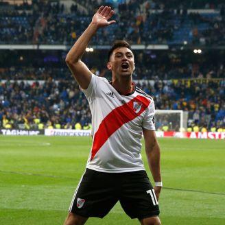 Gonzalo Martínez celebra su anotación en la Final de Libertadores