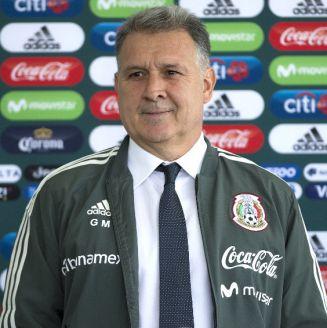 Gerardo Martino durante su presentación con el Tricolor