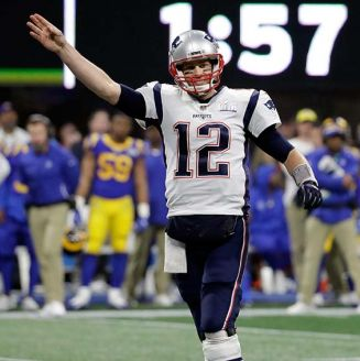 Tom Brady durante el Super Bowl LIII