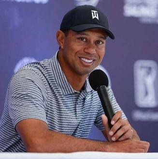 Tiger Woods en conferencia de prensa