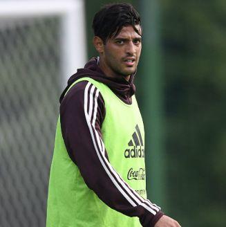 Carlos Vela durante un entrenamiento con el Tricolor
