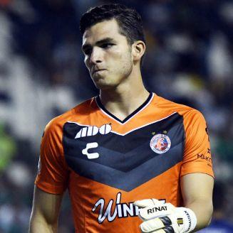 Sebastián Jurado durante el encuentro ante León