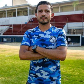 Jorge Gómez posa para la cámara de RÉCORD en el Estadio Olímpico Zaragoza