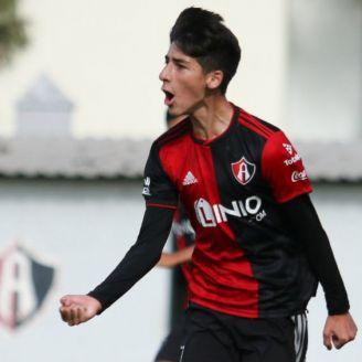 Santiago Márquez festeja gol con Atlas