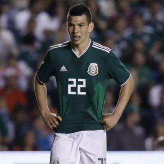 Lozano, en un partido de la Selección