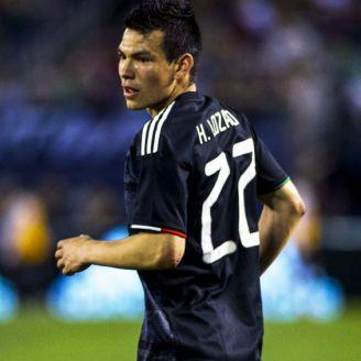 Chucky Lozano durante un juego de la Selección Mexicana