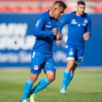 Cortés, durante un partido del Atlético