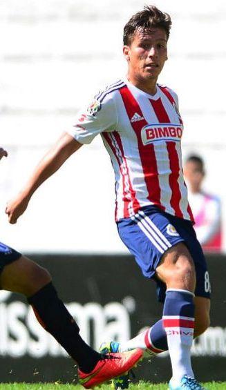 Rubén González, en un juego con Chivas Sub 20 en el 2013