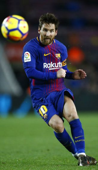 Messi, durante el partido contra el Levante