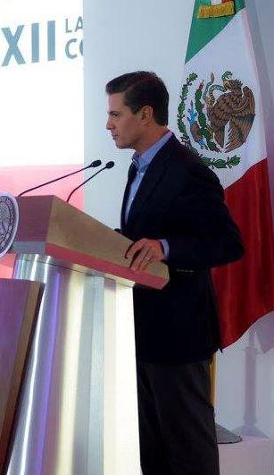 Peña Nieto, durante la XXII Conferencia Latinoamericana de Banco Santander