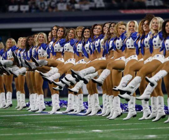 Así apoyaron las bellas porristas de los Cowboys